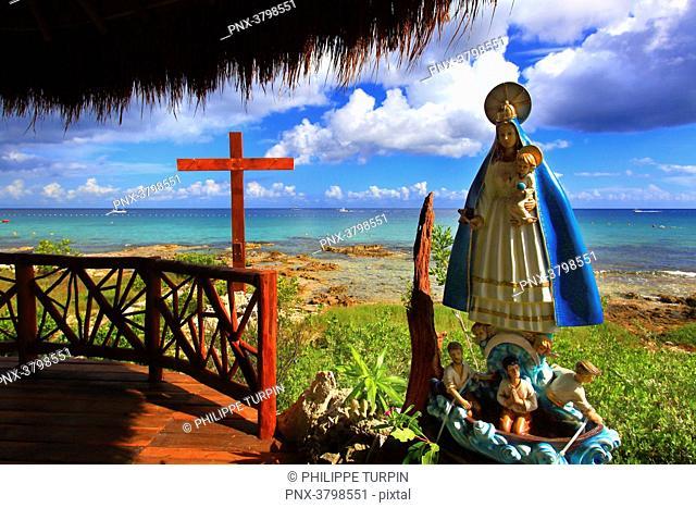 Mexico, Quintana Roo, Cozumel Island. Church