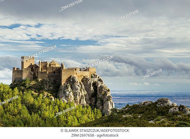 Loarre castle in Pre-Pyrenees, Huesca, Aragon, Spain