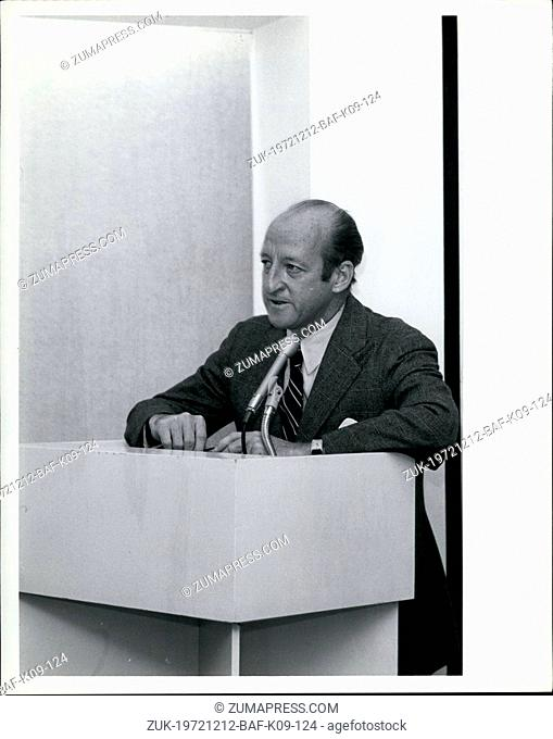 Dec. 12, 1972 - Osborn Elliott, Chairman of the Board, Newsweek speaking at press conference on expansion for International Editors