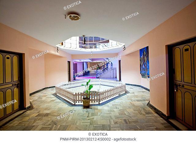 Hallway at a spa, Arya Ayurvedics & Spa, Colva, South Goa, Goa, India