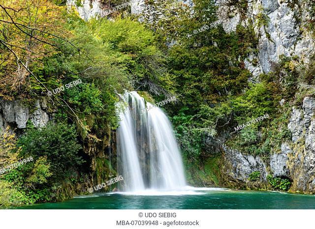 Croatia, Central Croatia, Plitvicka Jezera, Plitvice Lakes National Park, Lower Lakes