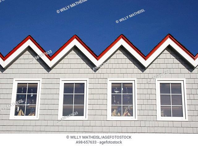 Roof of the Restaurant at Peggys cove, Nova Scotia, Canada