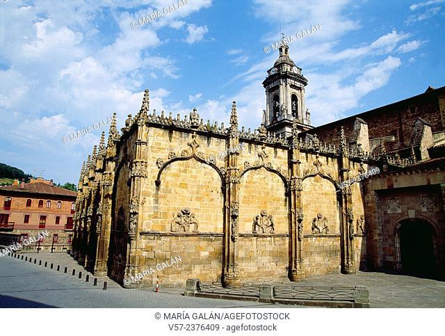 San Miguel church. Oñati, Guipuzcoa province, Basque Country, Spain