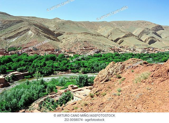 Valley of river M'goun. High Atlas. Morocco