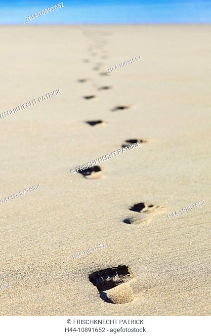 Impression, holidays, foot, footprint, foot impression, footprints, coast, nature, North, trips, travel, sand, sand beach, Scotl
