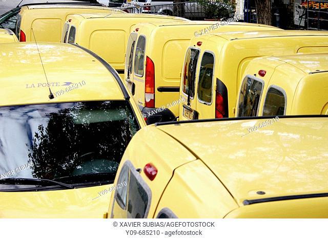 Mail vans, France