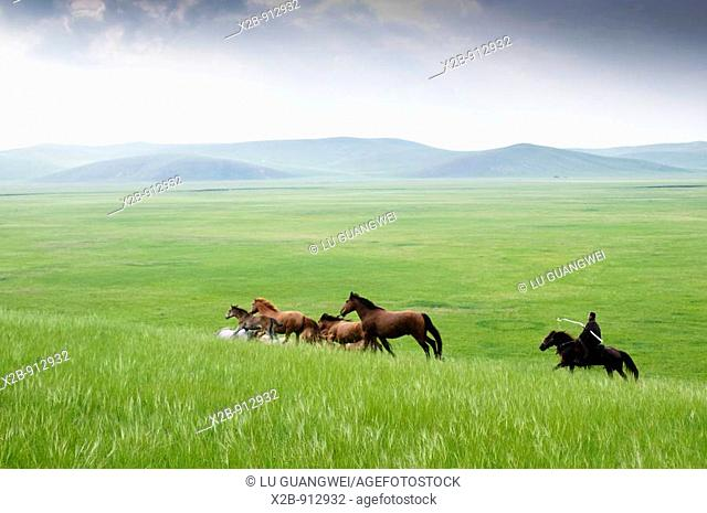 July 2009,Hulunbeir landscape in China's Inner Mongolia Grassland