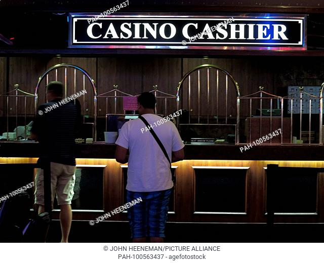 Las Vegas, Nevada ,Casino Cashier at The Strip (Las Vegas Boulevard), United States of America,     October 2015 | usage worldwide