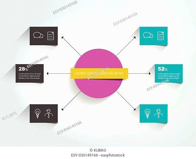 Flowchart diagram, scheme. Infographic element