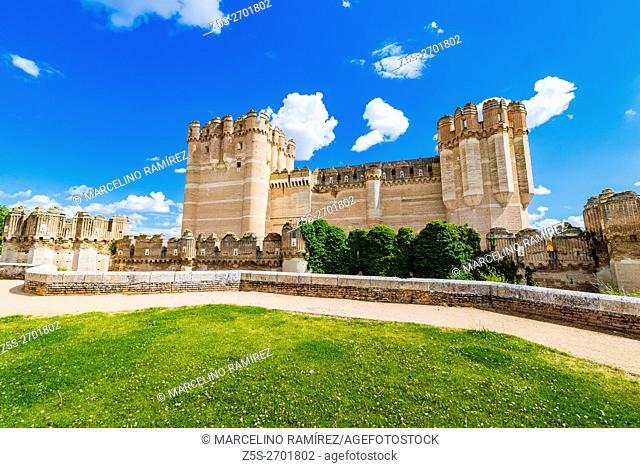 Castillo de Coca, Coca Castle, is a fortification constructed in the 15th century. Coca, Segovia, Castilla y León, Spain, Europe