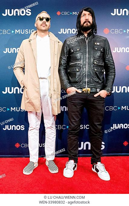 2018 JUNO Awards, held at the Rogers Arena in Vancouver, Canada. Featuring: Death From Above Where: Vancouver, British Columbia