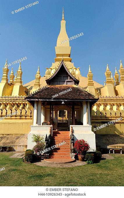 Laos, Asia, Vientiane, Pha That Luang, Buddhism, Stupa, temple