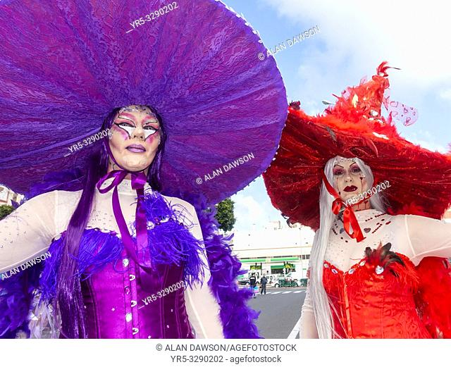 Las Palmas, Gran Canaria, Canary Islands, Spain. 9th March, 2019. The month long carnival in Las Palmas on Gran Canaria ends with a huge street parade through...