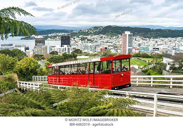 Historic cog railway, Wellington Cable Car, Wellington Region, North Island, New Zealand