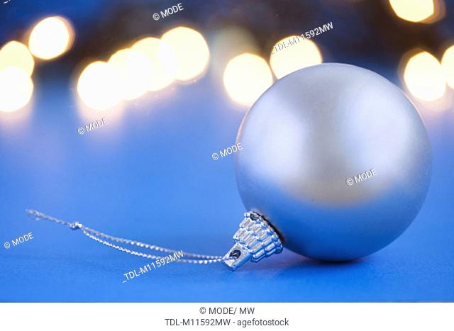 A single silver bauble