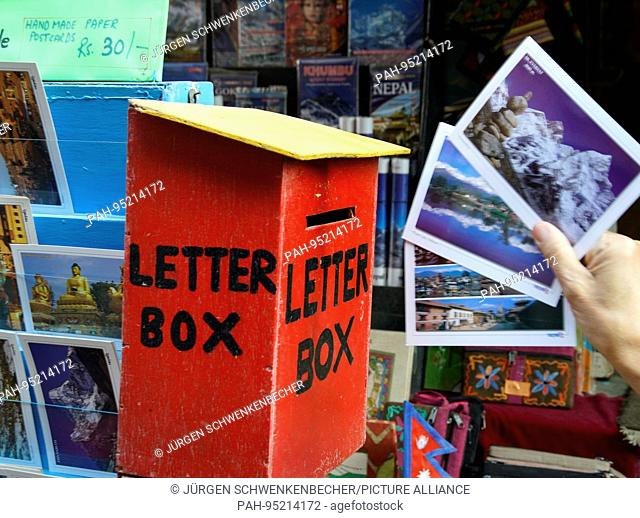 It is difficult to find mailboxes in Nepal. But greetings like here from Kathmandu usually arrive at home. (23 November 2016) | usage worldwide
