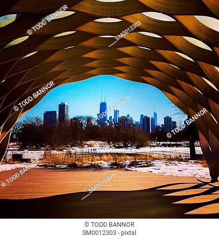 Education Pavillion, Lincoln Park Nature Area, Chicago, Illinois