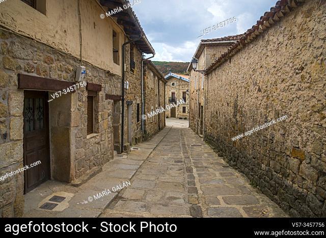 Street. Molinos de Duero, Soria province, Castilla Leon, Spain