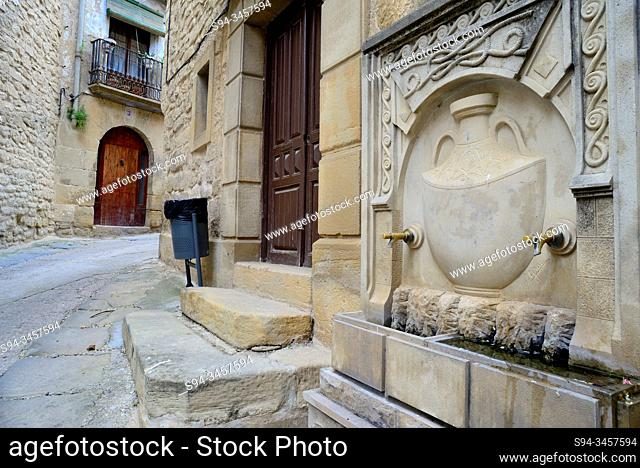 Curious retreat in the Old Town of Calaceite, Matarraña, Teruel, Aragon, Spain
