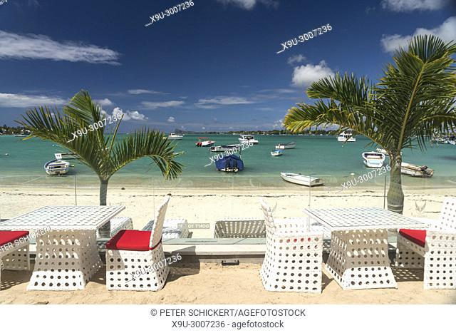 Restaurant on Grand Baie Beach, Grand Baie, , Mauritius, Africa