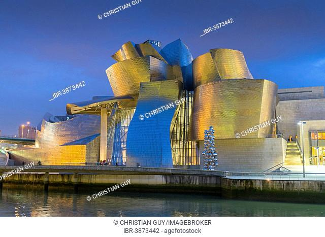 The Guggenheim Museum, designed by Frank Gehry, Bilbao, Vizcaya Province, Basque Country, Spain