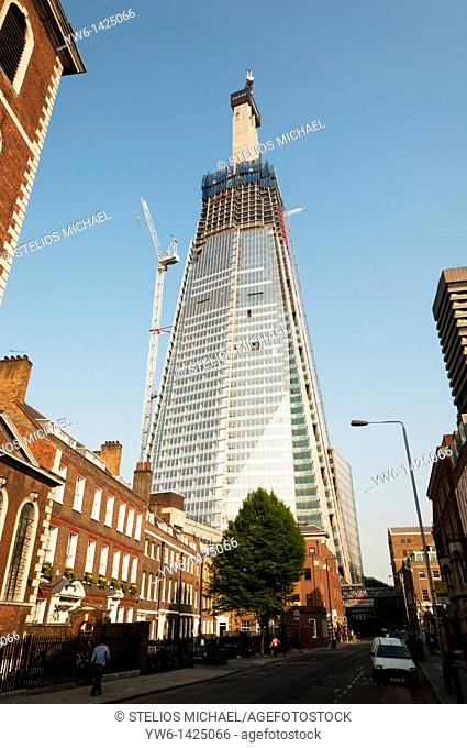 The Shard skyscaper in Southwark,London, during construction