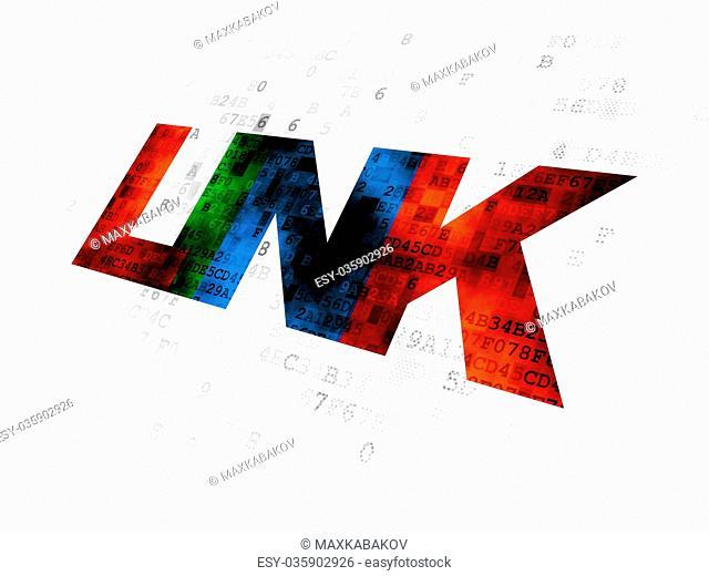 Web development concept: Link on Digital background