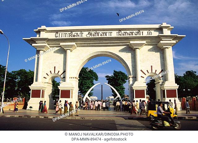 View of Anna Square at Marina beach , Chennai , Tamil Nadu , India