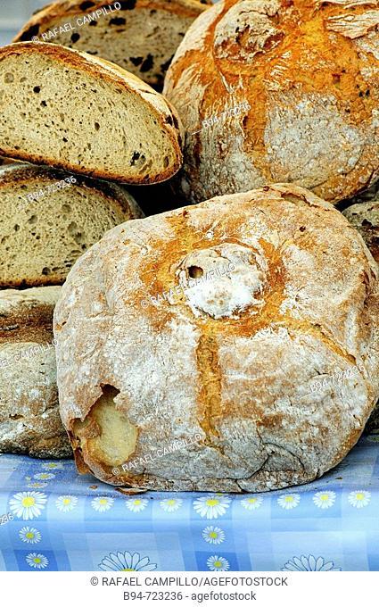 Galician bread at Feria de Abril (April fair), Barcelona. Catalonia, Spain