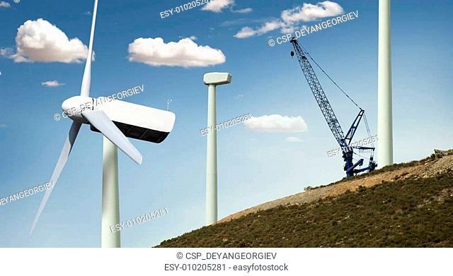 Installation of wind turbines