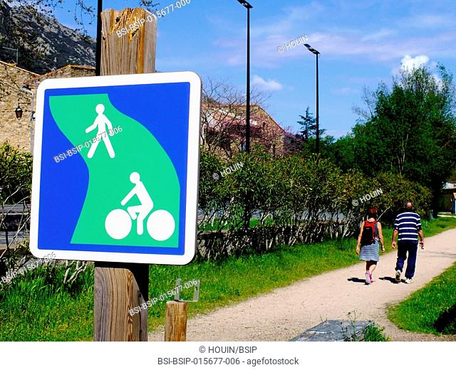 Cycle and footpath