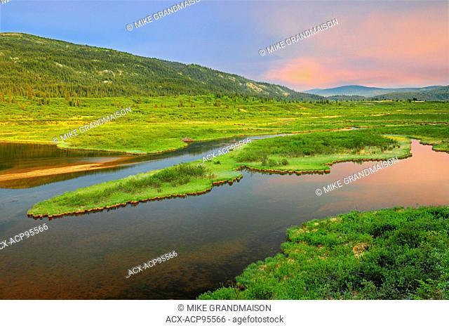 Lower Gnat Lake on the Stewart-Cassiar Highway, Stewart-Cassiar Highway, British Columbia, Canada