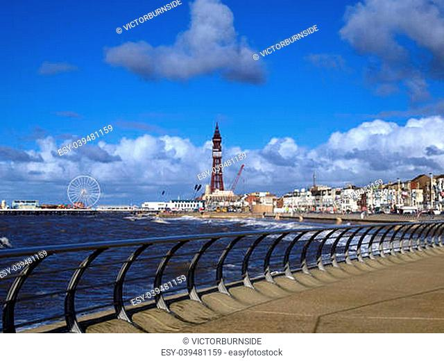 Blackpool tower under renovation