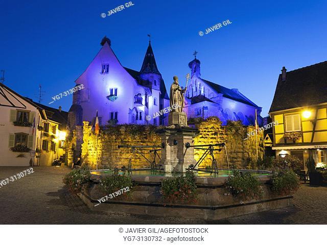 Nightfall in Eguisheim, Haut-Rhin, Grand Est, France