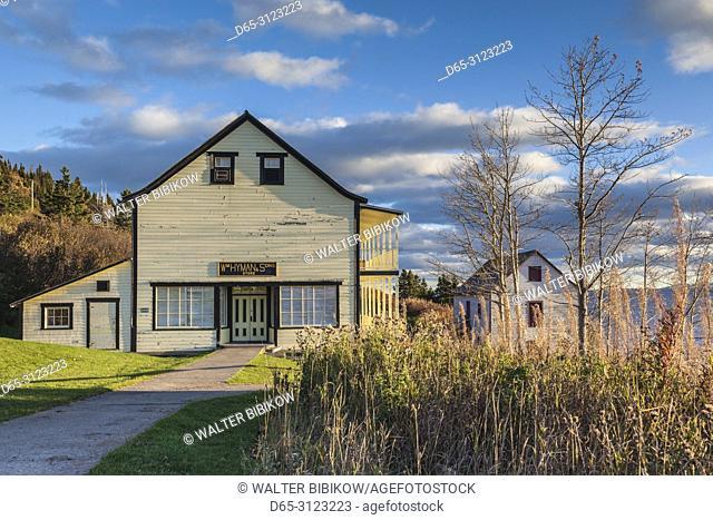 Canada, Quebec, Gaspe Peninsula, Forillon National Park, historic Hyman & Sons Store, autumn