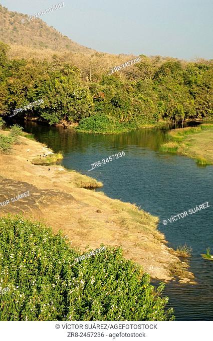 Hiran river. Gir Lion Sanctuary and National Park. Gujarat. India