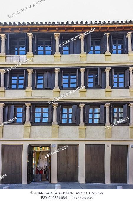 Grand 17th-century Corredera Square, Cordoba, Spain. Balconied apartments