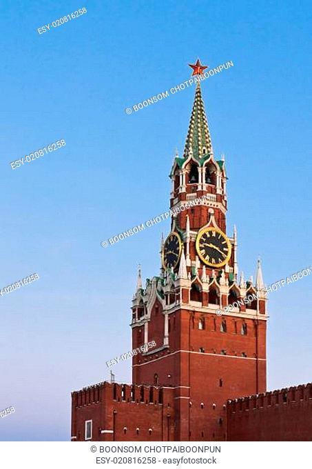 Spasskaya tower or Savior's tower of Moscow Kremlin, Russia