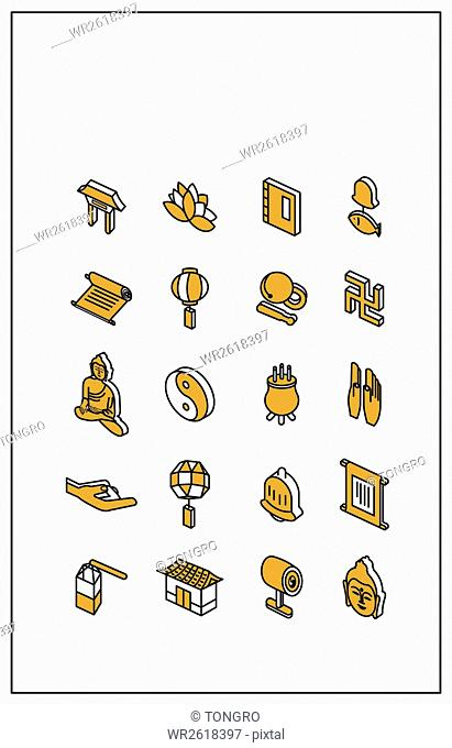 Icons related to Buddhism