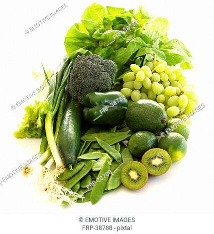 5 a day - green fruits and vegies
