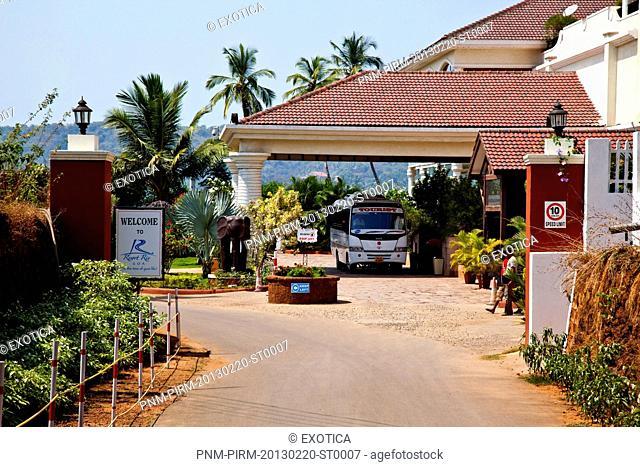 Entrance of the Resort Rio, Tambudki, Arpora, Bardez, North Goa, India