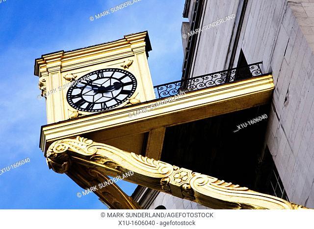 Civic Hall Clock Leeds West Yorkshire England