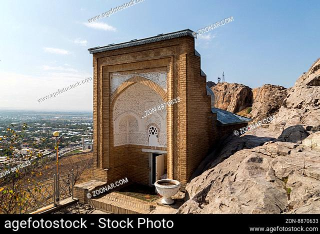 Photograph of the sacred site called Solomon#39;s Throne in Osh, Kyrgyzstan