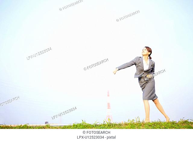 Businesswoman Pitching