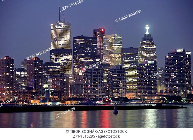 Canada, Ontario, Toronto, Financial District, downtown skyline