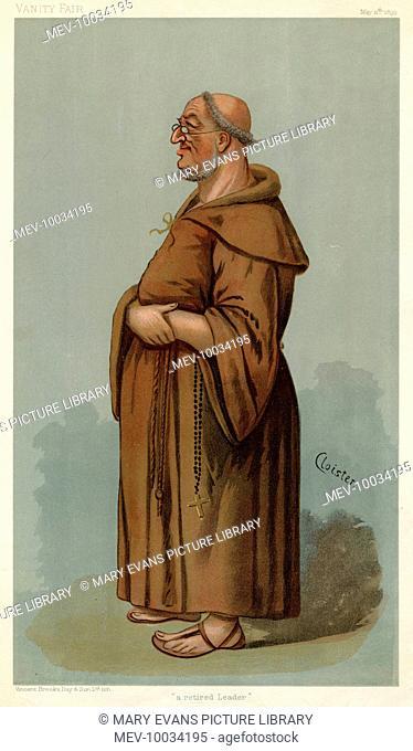 Sir William Venon Harcourt - British statesman caricatured as a tonsured monk