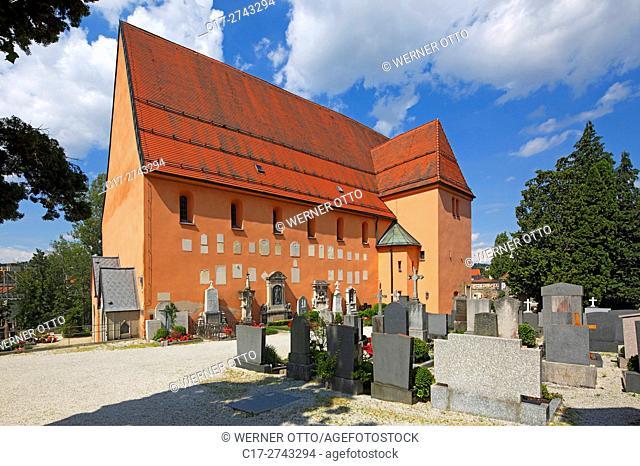 Germany, Bavaria, Eastern Bavaria, Lower Bavaria, D-Passau, Danube, Inn, Ilz, D-Passau-Innstadt, parish church St. Severin, catholic church, cemetery church