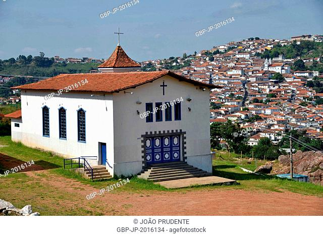Chapel of Our Lady of Aparecida in the background the city, Diamantina, Minas Gerais, Brazil. 01.2016