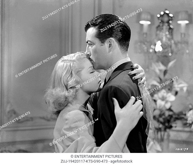 RELEASED: Jan 17, 1942 - Original Film Title: Johnny Eager. PICTURED: ROBERT TAYLOR, LANA TURNER. (Credit Image: © Entertainment Pictures/Entertainment...