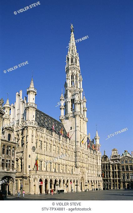 Belgium, Europe, Brussels, Grand place, Heritage, Holiday, Landmark, Tourism, Town hall, Travel, Unesco, Vacation, World